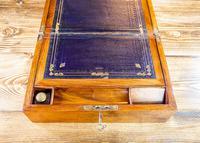 Figured Walnut Writing Slope 1880. (8 of 10)