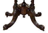 Oval Inlaid Walnut Loo Table on Quadruple Base (3 of 8)