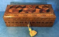 Victorian Burr Holly Glove Box with Tunbridge Ware Inlay (5 of 9)