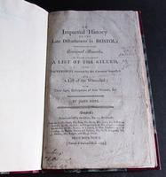 1793 An Impartial History of The Late Disturbances  In Bristol  By John  Rose.  1st Edition (4 of 4)