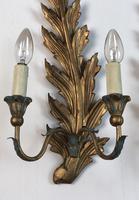 Pair of Vintage Florentine Giltwood Wall Lights (9 of 10)