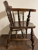 Victorian Ash & Elm Smokers Bow Chair (5 of 8)