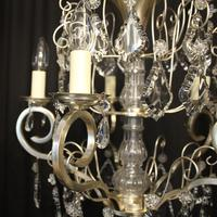 French Silver Gilded 5 Light Antique Chandelier (11 of 11)