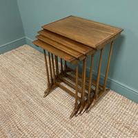 Edwardian Mellow Walnut Nest of Four Antique Tables (5 of 5)
