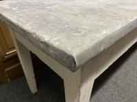 Large 19th Century French Zinc Top Table (13 of 13)