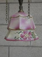 Converted Gas Lamp with Pink Shade (3 of 5)