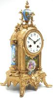 Wow! French Blue Sevres Mantel Clock 8 Day Striking Mantle Clock (5 of 12)