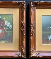 Attractive Matching Pair of 19th Century Oil Paintings Floral Still Life Study (5 of 8)