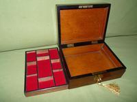 Inlaid Walnut Jewellery Box + Tray c.1875 (6 of 7)