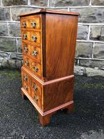 Antique Figured Walnut Small Chest Drawers (4 of 10)