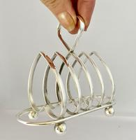 Heart Shaped Silver Plated Toast Rack c.1910 (5 of 7)