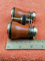 Antique Opera Glasses, Brass & Brown c.1920 (11 of 11)