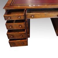 Victorian Oak Partners Desk (6 of 12)