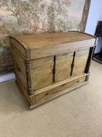 Fabulous 19th Century Pine Trunk with Carved Decoration (2 of 6)