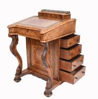 Victorian Davenport Desk Walnut Inlay c.1860 (7 of 14)
