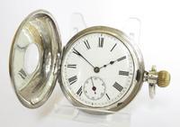 Antique Silver Half Hunter Pocket Watch (2 of 6)