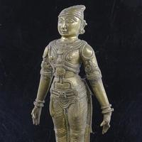 17th / 18th Century Indian Bronze Figure of God (3 of 3)