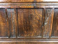 Small Antique Oak Panelled Coffer (7 of 10)