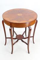 Edwardian Mahogany & Inlaid Circular Side Table (3 of 13)