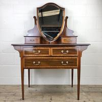 Edwardian Inlaid Mahogany Dressing Table (2 of 10)