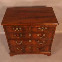 Rare English Walnut Small Chest of Drawers (6 of 9)