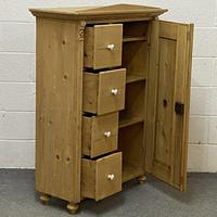Antique Pine Bread Cupboard with Deep Drawers (6 of 6)