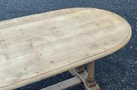 French Bleached Oak Farmhouse Refectory Dining Table (12 of 18)