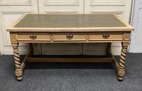Large Oak 6 Drawer Writing Table (5 of 16)