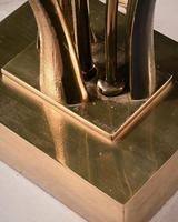 Impressive 1970 Gilt Bronze and Quartz Lamp by Willy Daro (9 of 10)