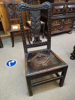 Decorative Carved Oak Georgian Chair