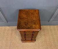 Victorian Pair of Burr Walnut Bedside Chests (10 of 14)