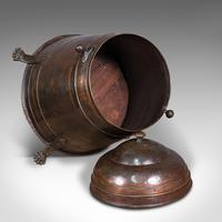 Antique Beehive Fireside Store, Copper, Fire Bucket, Coal Bin, Victorian c.1850 (12 of 12)