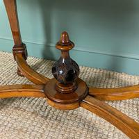 Magnificent Victorian Figured Walnut Antique Centre Table (6 of 9)