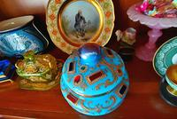 Very Important Rare Large Opaline Glass Box in Turquoise for the Oriental Market (5 of 5)