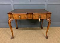 Excellent Queen Anne Style Burr Walnut Writing Table (2 of 16)
