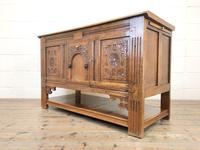 Antique Oak Cupboard with Carved Detail (9 of 11)