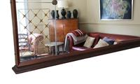 Italian Mahogany Chateau Overmantle or Wall Mirror c.1950 (5 of 9)