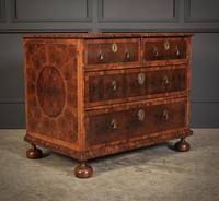 Rare Laburnum Oyster Veneer Chest of Drawers (4 of 4)