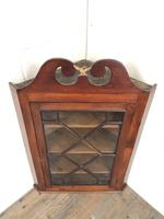 Antique Glazed Corner Cupboard (2 of 7)