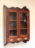 Mahogany Glazed Wall Cabinet (10 of 10)