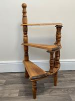 Victorian Style Light Oak Library Spiral Curved Step Ladder Stand (2 of 24)