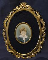 Miniature Portrait Little Boy Allan Pertwee by Mabel Jones 1895 (2 of 5)