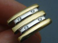 Pair of 2 coloured 9ct gold and diamond set cufflinks (2 of 8)