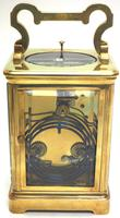 Good Antique French 8-day Repeat Carriage Clock Bevelled Case with Enamel Dial Gong Striking (8 of 15)