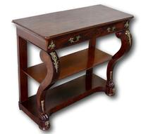 Frech Empire Mahogany Console Table (4 of 4)