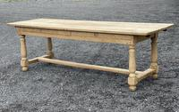 Large Bleached Oak Farmhouse Dining Table with Extensions & Storage (9 of 35)