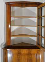 Mahogany Glazed Display Cabinet with Cupboard Below (3 of 7)