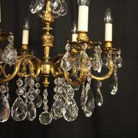 Italian 6 Light Gilded Antique Chandelier (5 of 10)