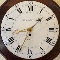 Rare Wall Clock with Enamel Dial (2 of 6)