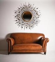 Late Victorian Leather Upholstered Drop-Arm Sofa (6 of 9)